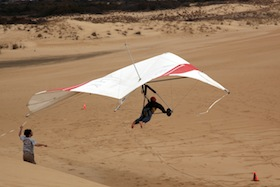 High dunes and steady winds make Jockey's Ridge State Park ideal for hang gliding.