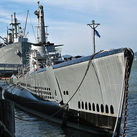 The USS Pampanito moored at Fisherman's Wharf in San Francisco.